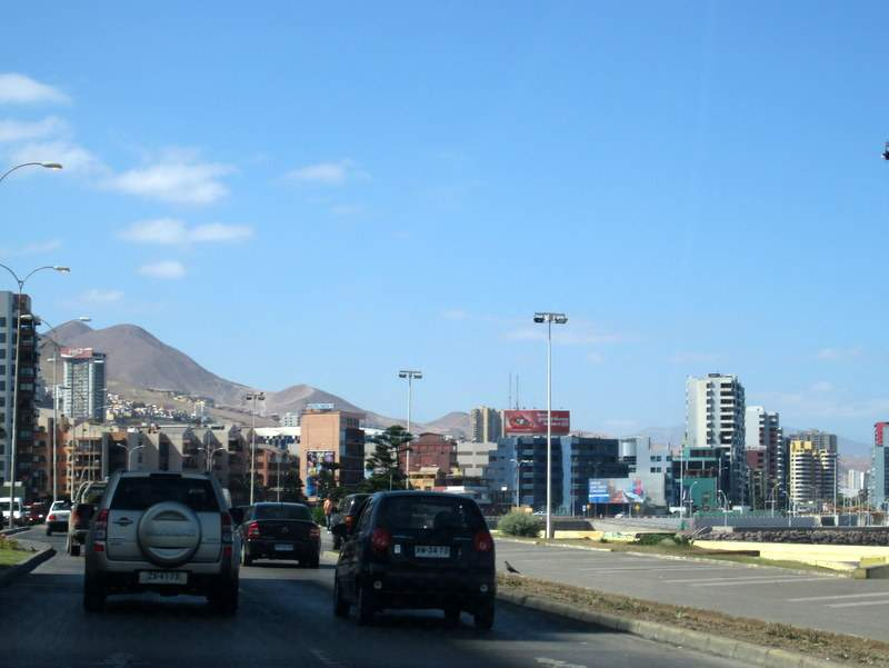 Chile Map With Cities City in Chile Antofagasta